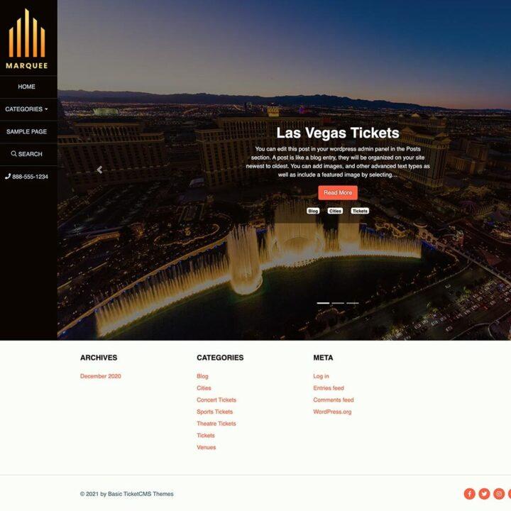 Marquee WordPress Template